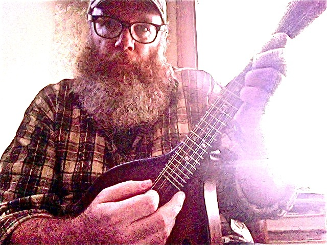 Brian Beatty and mandolin